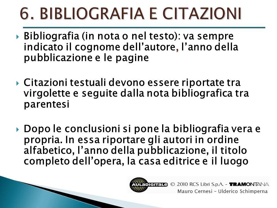 6. BIBLIOGRAFIA E CITAZIONI