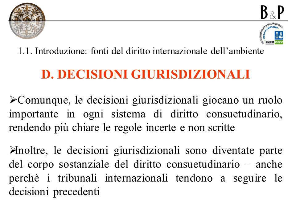 1.1. Introduzione: fonti del diritto internazionale dell'ambiente