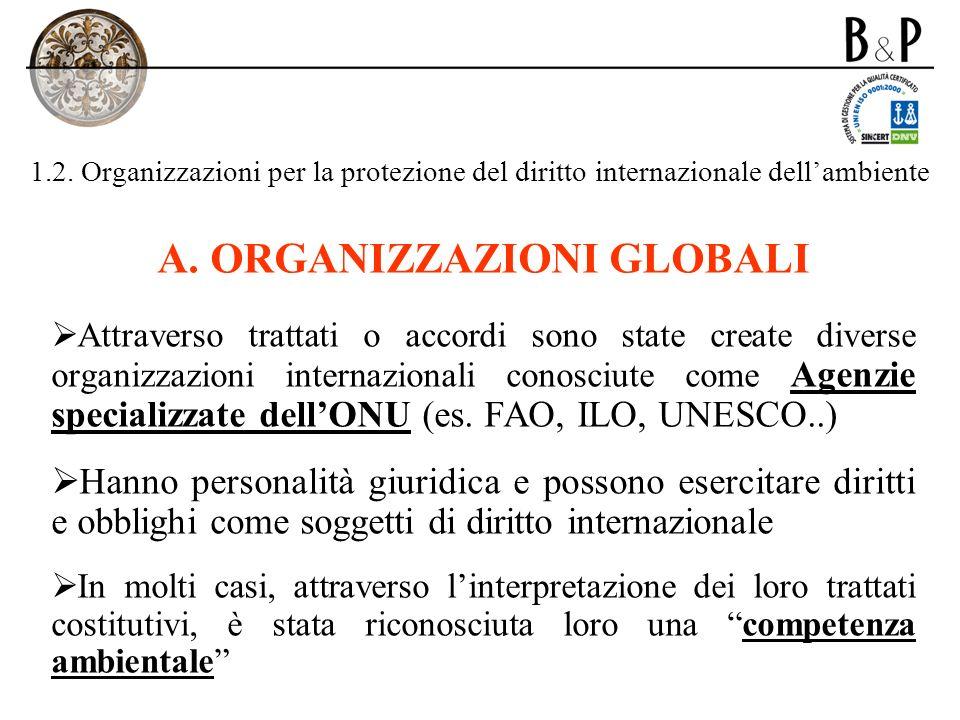 ORGANIZZAZIONI GLOBALI
