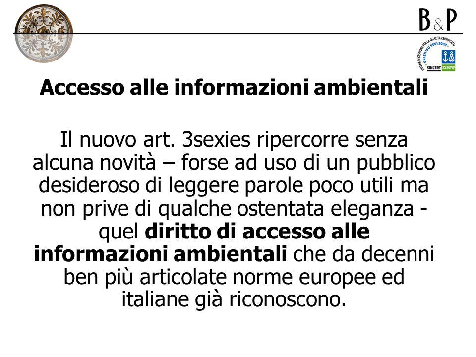 Accesso alle informazioni ambientali