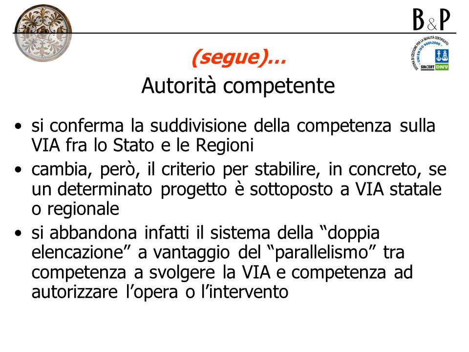 (segue)… Autorità competente