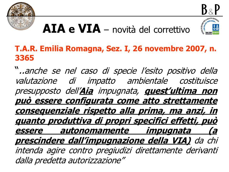 AIA e VIA – novità del correttivo