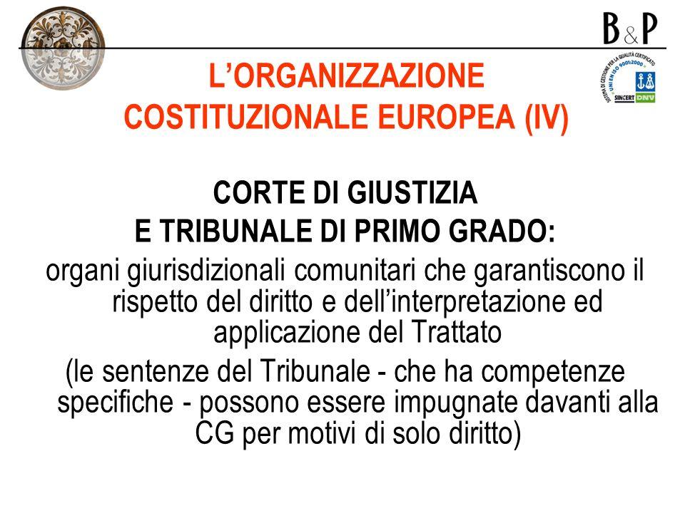 L'ORGANIZZAZIONE COSTITUZIONALE EUROPEA (IV)