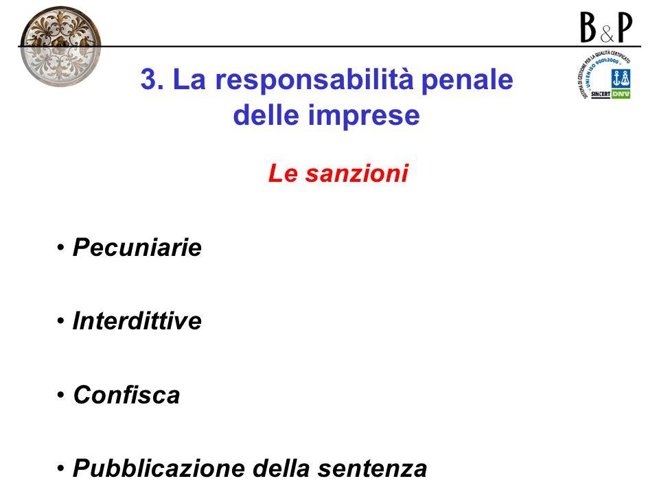 3. La responsabilità penale delle imprese