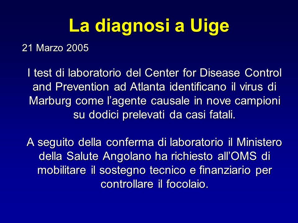 La diagnosi a Uige 21 Marzo 2005.