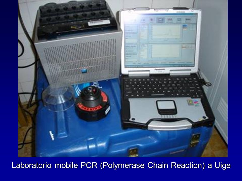 Laboratorio mobile PCR (Polymerase Chain Reaction) a Uige