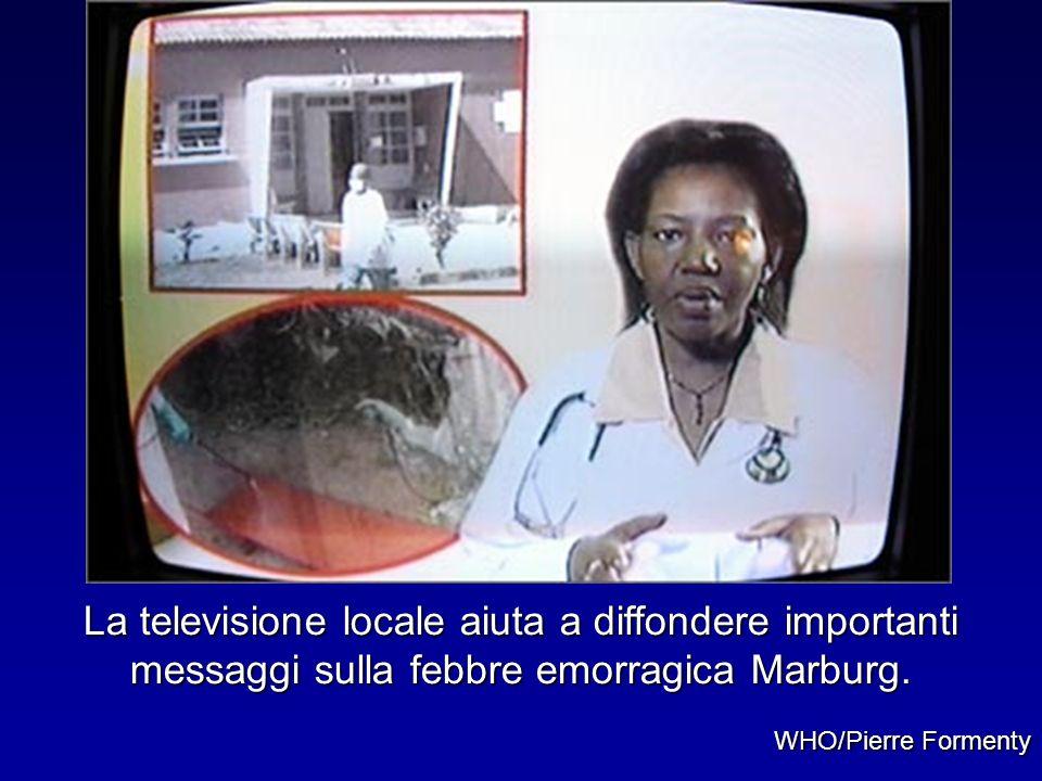 La televisione locale aiuta a diffondere importanti messaggi sulla febbre emorragica Marburg.