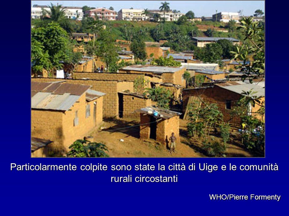 Particolarmente colpite sono state la città di Uige e le comunità rurali circostanti