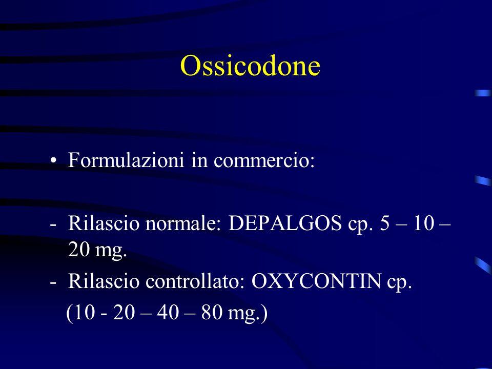 Ossicodone Formulazioni in commercio: