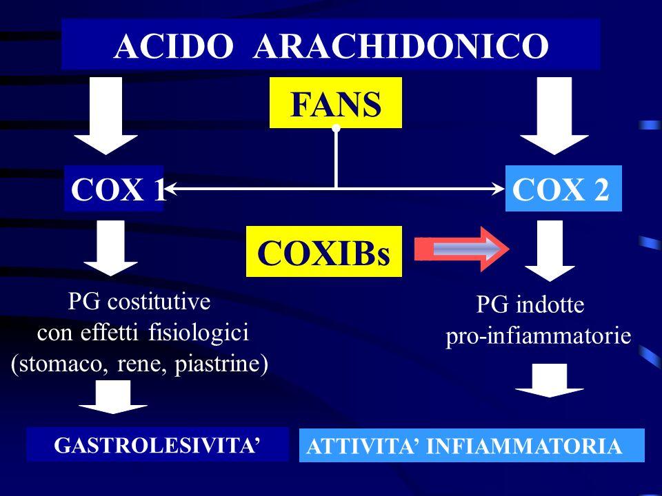ACIDO ARACHIDONICO FANS COXIBs