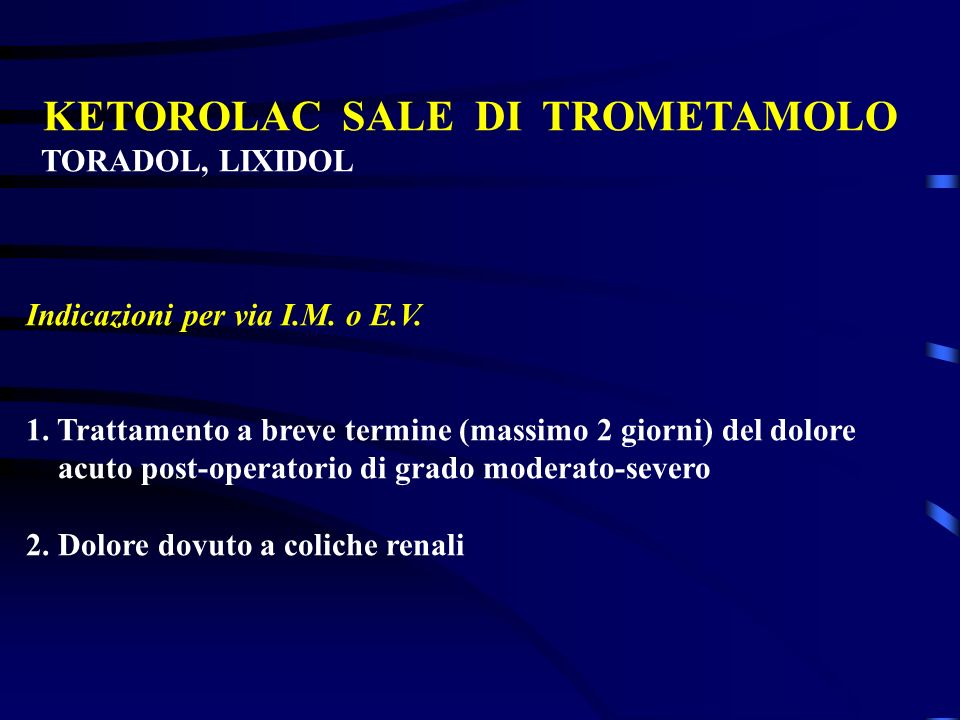 KETOROLAC SALE DI TROMETAMOLO