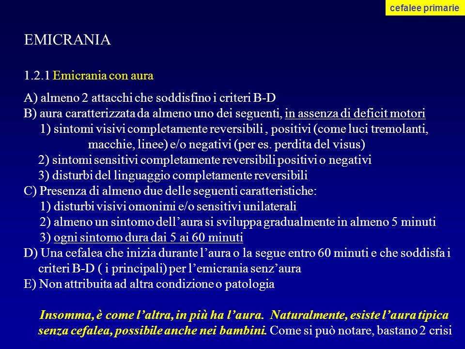 EMICRANIA 1.2.1 Emicrania con aura