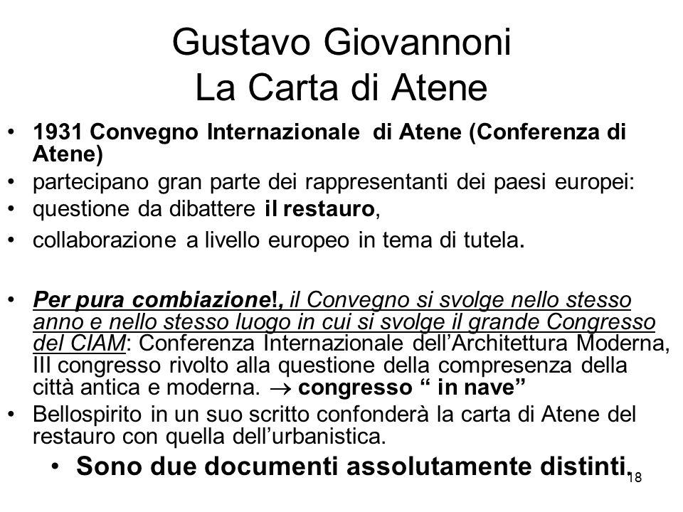 Gustavo Giovannoni La Carta di Atene