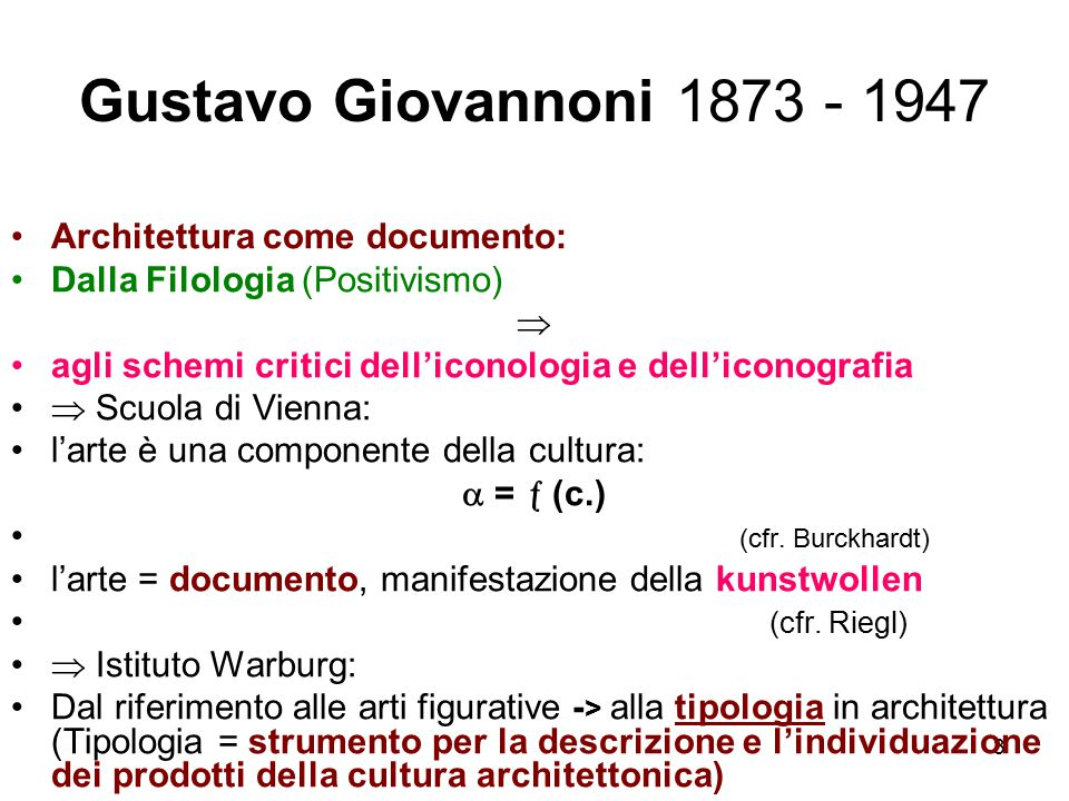 Gustavo Giovannoni 1873 - 1947 Architettura come documento:
