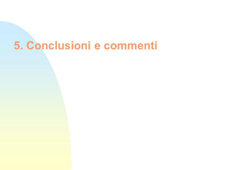5. Conclusioni e commenti