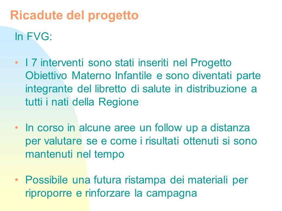Ricadute del progetto In FVG: