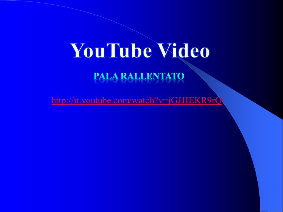 YouTube Video Pala Rallentato
