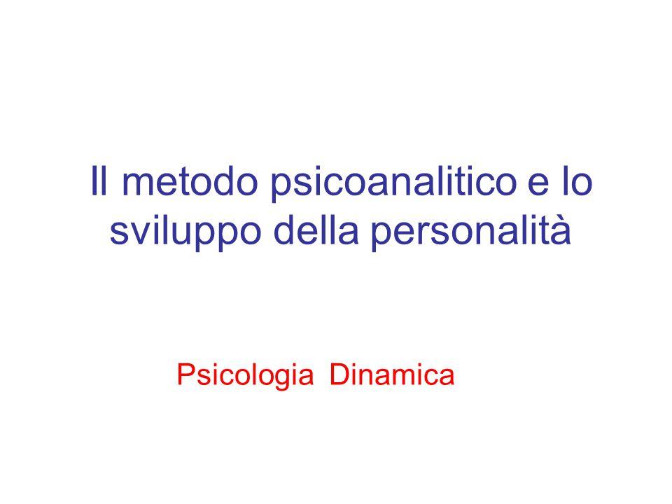 Il metodo psicoanalitico e lo sviluppo della personalità