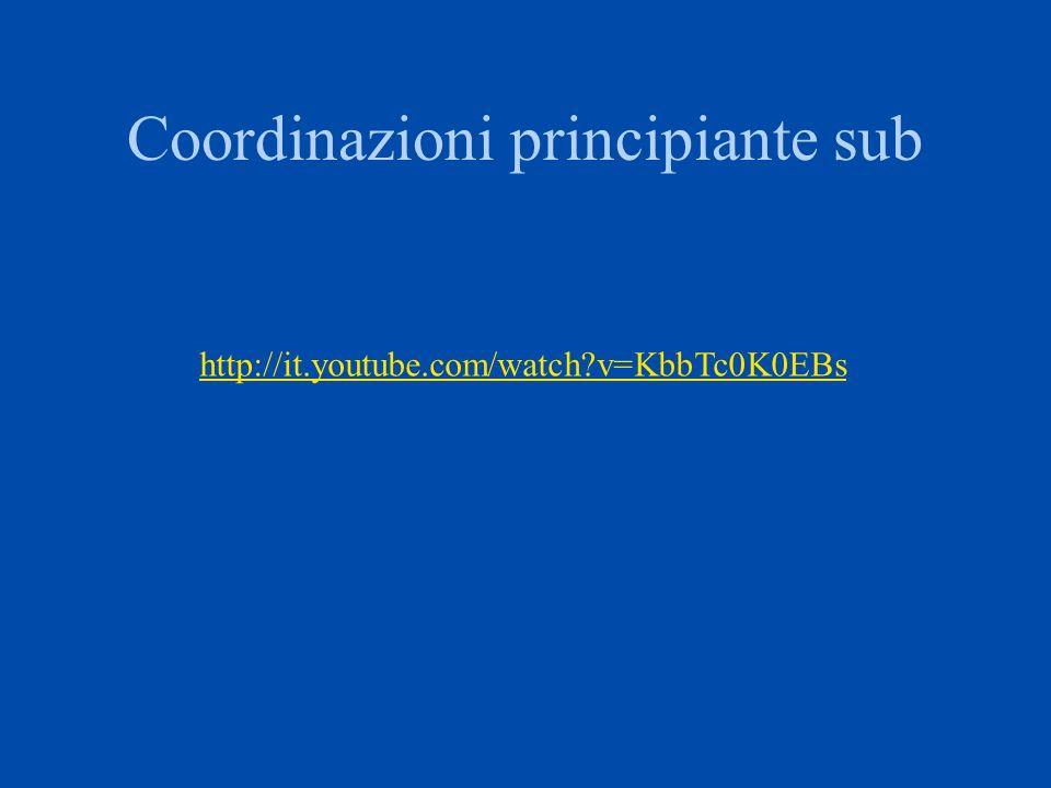 Coordinazioni principiante sub