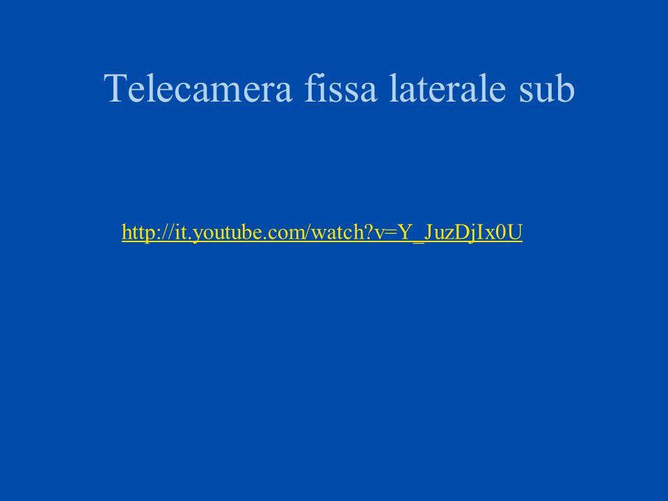 Telecamera fissa laterale sub