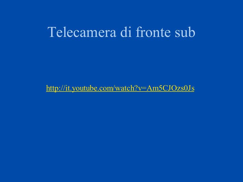 Telecamera di fronte sub