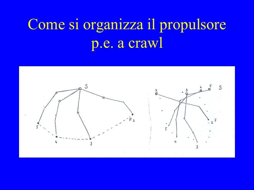 Come si organizza il propulsore p.e. a crawl