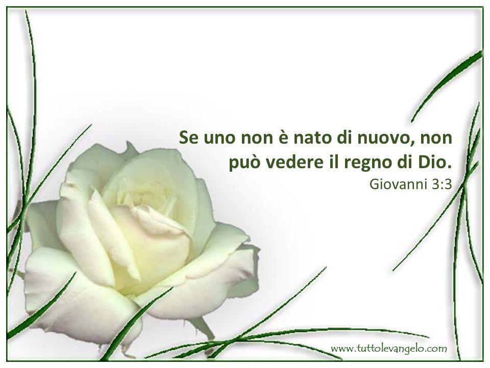 Se uno non è nato di nuovo, non può vedere il regno di Dio