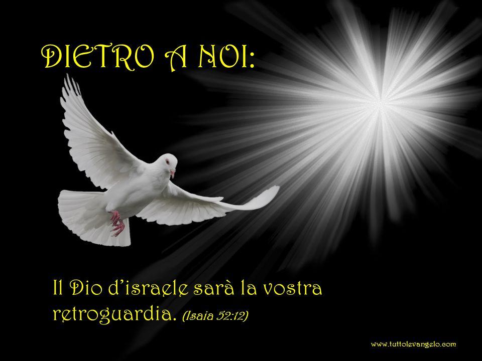 DIETRO A NOI: Il Dio d'israele sarà la vostra retroguardia. (Isaia 52:12) www.tuttolevangelo.com