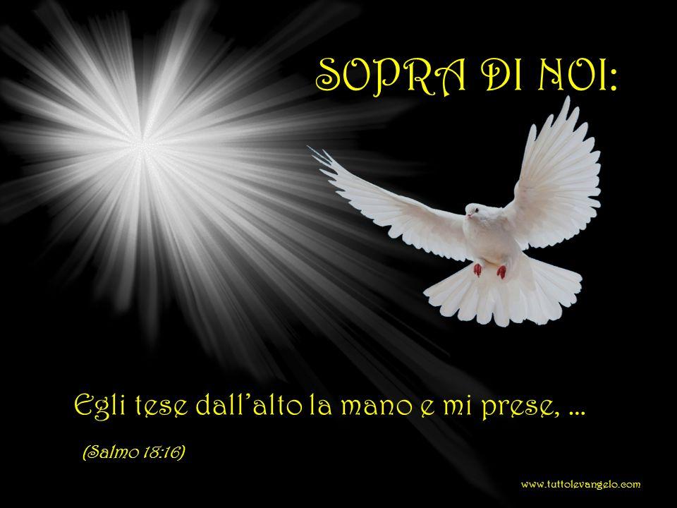 SOPRA DI NOI: Egli tese dall'alto la mano e mi prese, … (Salmo 18:16)