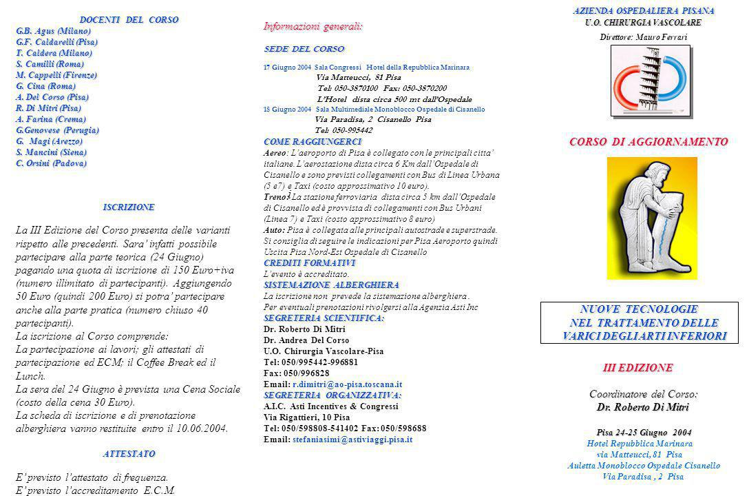 i AZIENDA OSPEDALIERA PISANA Informazioni generali: