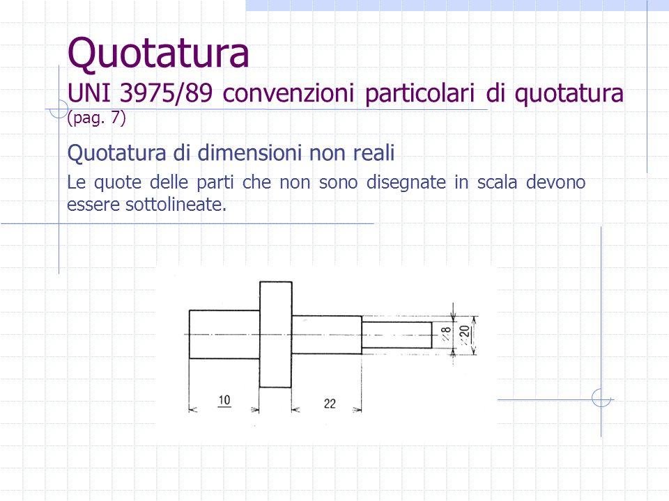 Quotatura UNI 3975/89 convenzioni particolari di quotatura (pag. 7)