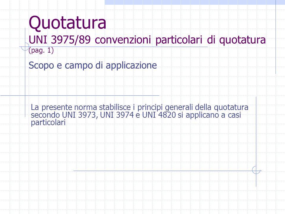 Quotatura UNI 3975/89 convenzioni particolari di quotatura (pag. 1)