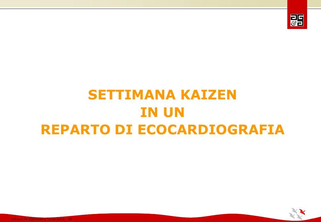 SETTIMANA KAIZEN IN UN REPARTO DI ECOCARDIOGRAFIA