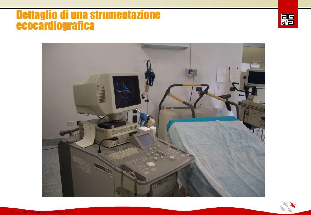 Dettaglio di una strumentazione ecocardiografica