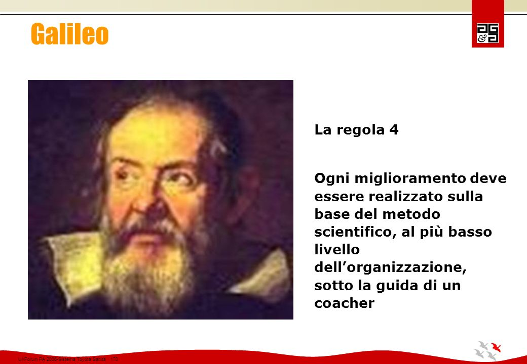 Galileo La regola 4.