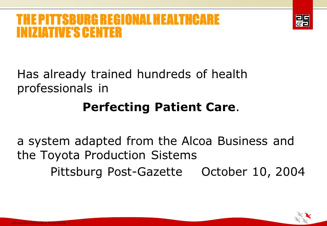 THE PITTSBURG REGIONAL HEALTHCARE INIZIATIVE'S CENTER