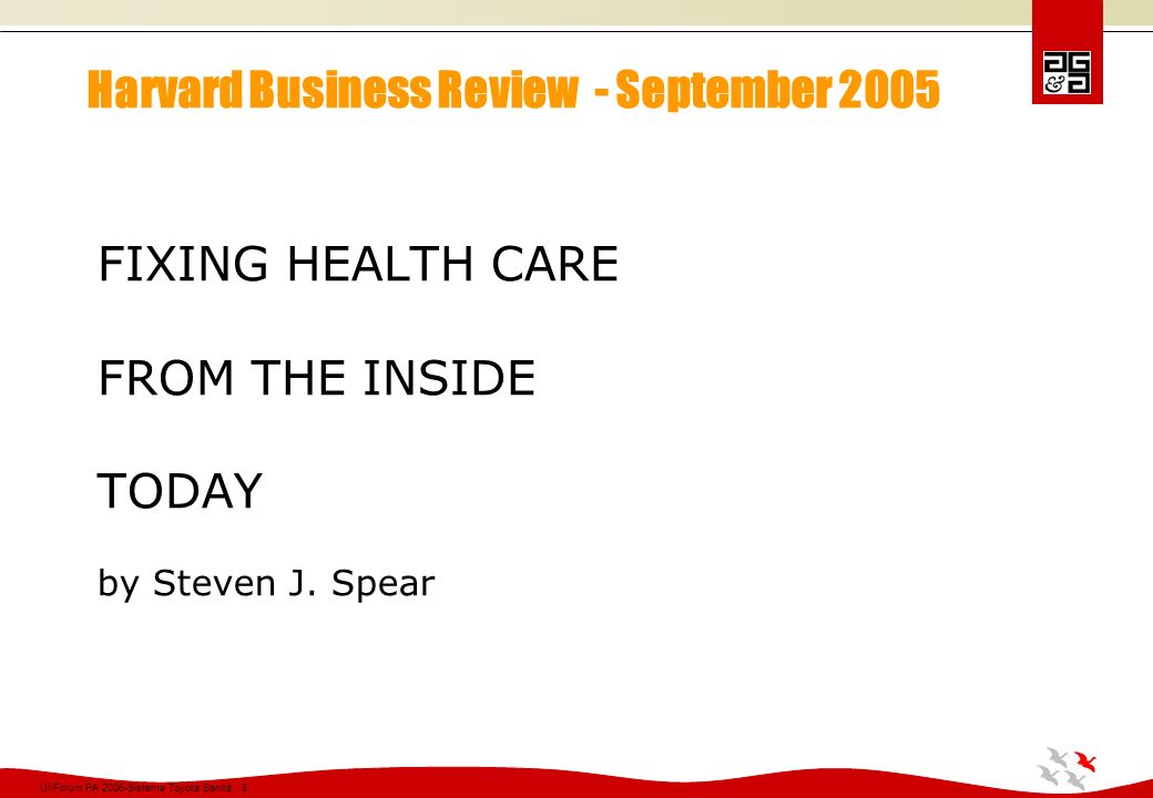 Harvard Business Review - September 2005