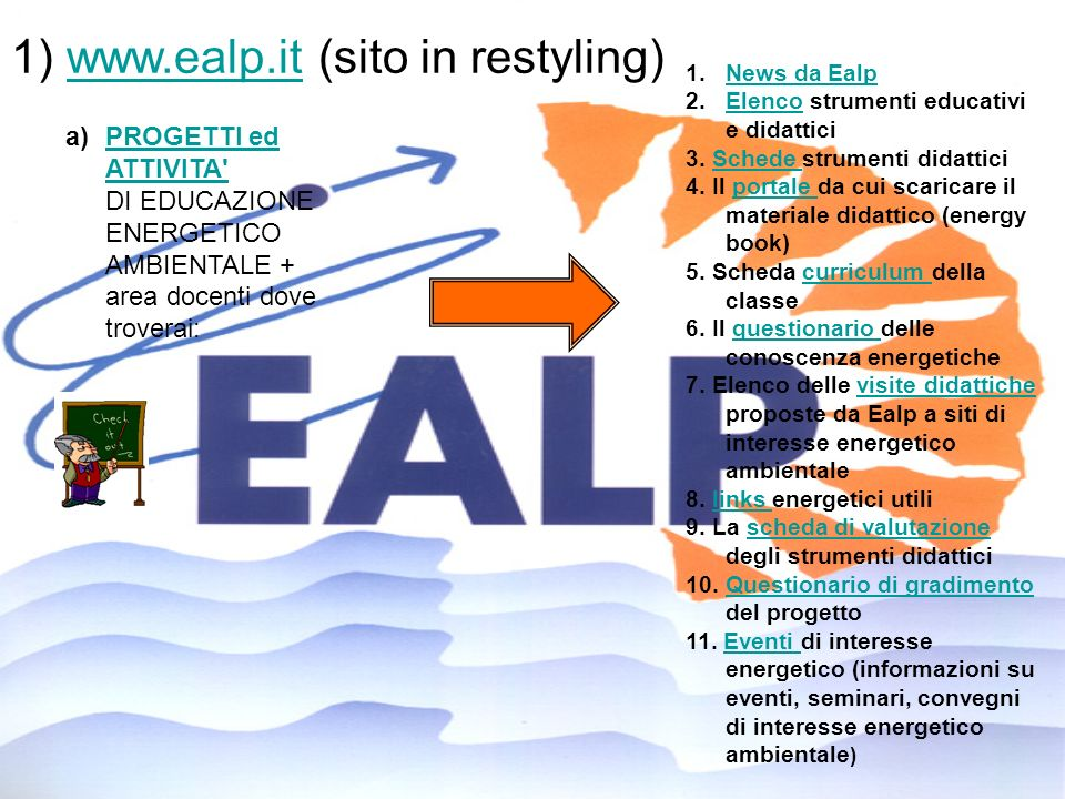 1) www.ealp.it (sito in restyling)