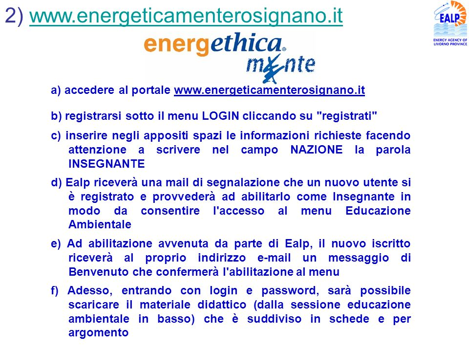 2) www.energeticamenterosignano.it