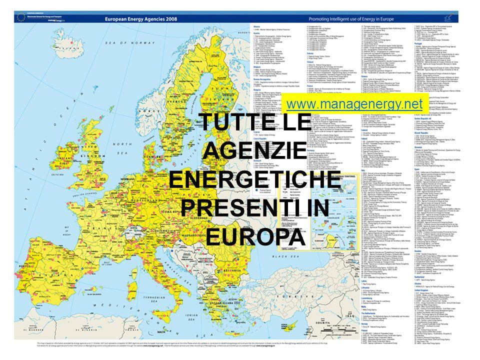 TUTTE LE AGENZIE ENERGETICHE PRESENTI IN EUROPA