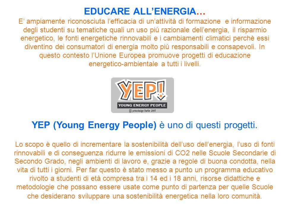 YEP (Young Energy People) è uno di questi progetti.
