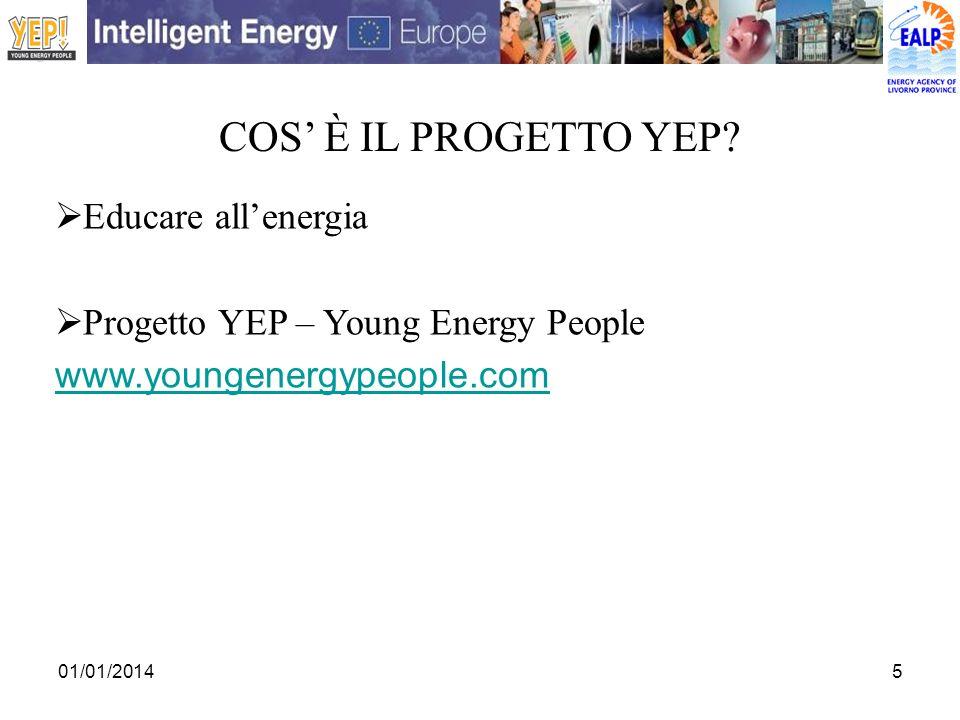 COS' è IL PROGETTO YEP Educare all'energia
