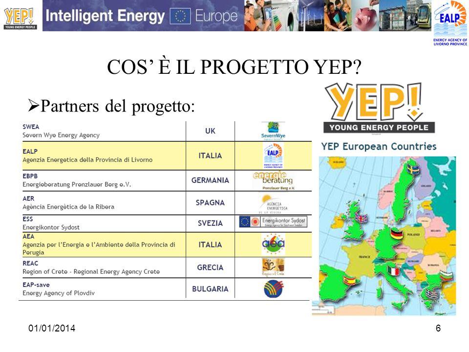 COS' è IL PROGETTO YEP Partners del progetto: 27/03/2017