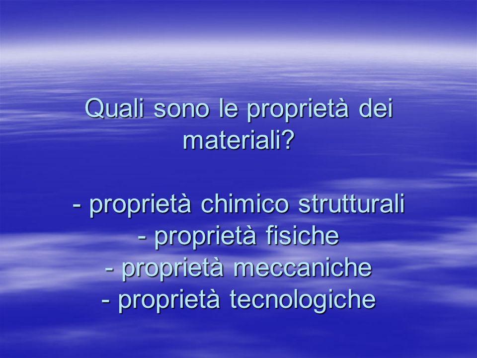 Quali sono le proprietà dei materiali