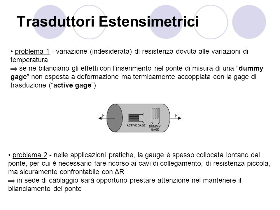 Trasduttori Estensimetrici