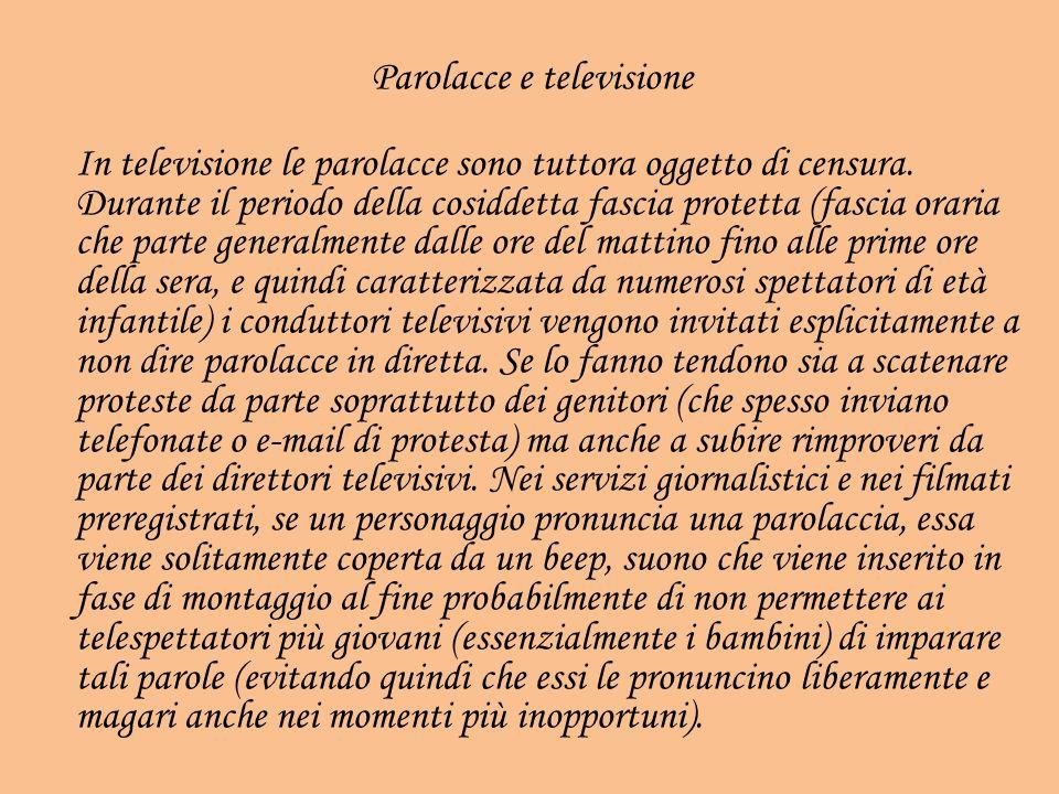 Parolacce e televisione
