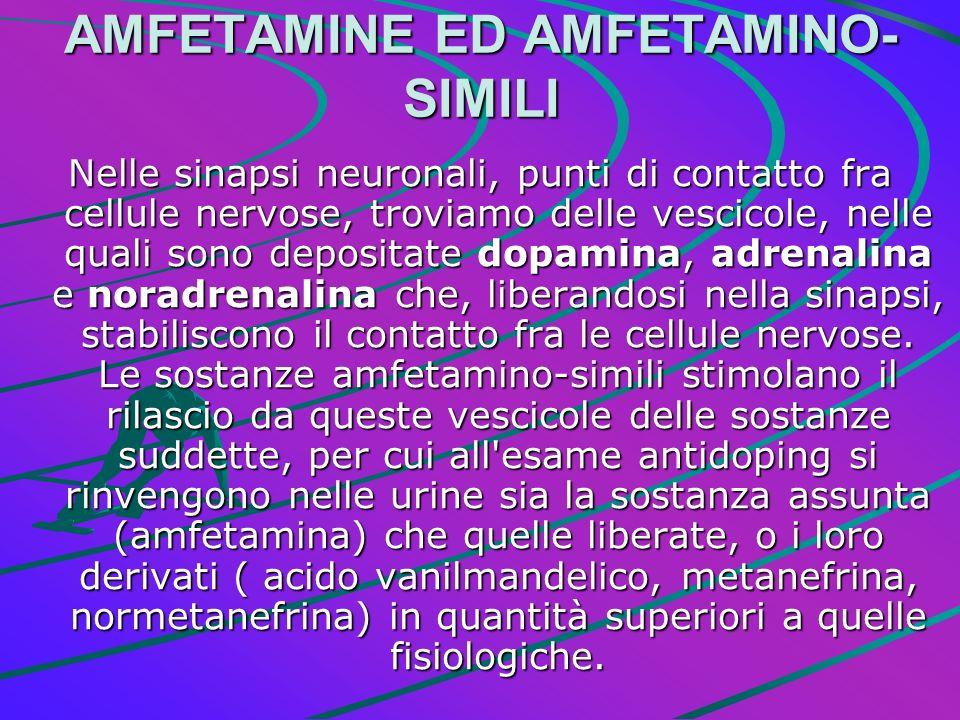 AMFETAMINE ED AMFETAMINO-SIMILI