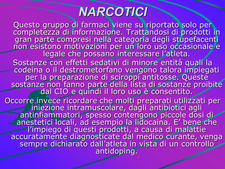 NARCOTICI