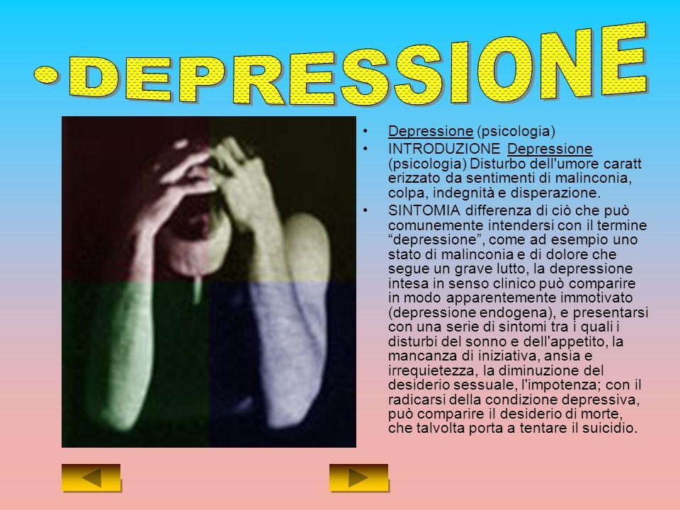 DEPRESSIONE Depressione (psicologia)