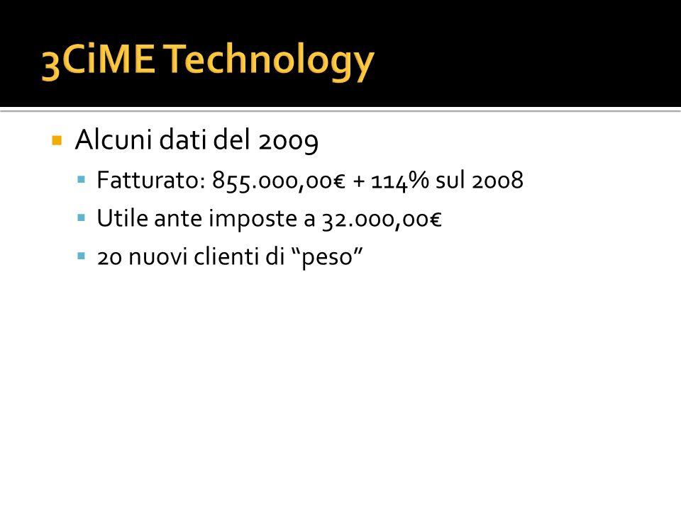3CiME Technology Alcuni dati del 2009